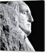 Washington Granite In Black And White Canvas Print