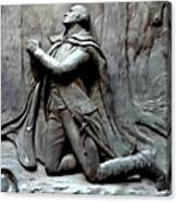 Washington Kneeling In Praying Canvas Print