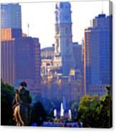 Washington Looking Over To City Hall Canvas Print