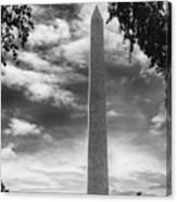 Washington Monument Black And White Canvas Print
