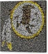 Washington Redskins Coins Mosaic Canvas Print