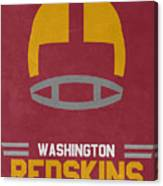 Washington Redskins Vintage Art Canvas Print
