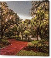 Washington Square In Mobile Alabama Painted Canvas Print