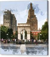 Washington Square Park Greenwich Village New York City Canvas Print