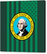 Washington State Flag Graphic Usa Styling Canvas Print