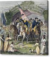 Washington: Trenton, 1789 Canvas Print