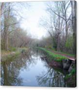 Washingtons Crossing - Along The Delaware Canal Canvas Print