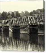 Washington's Crossing Bridge On A Rainy Day Canvas Print