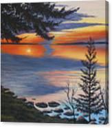 Waskesiu Sunset Canvas Print