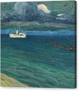 Wassily Kandinsky 1866 - 1944 Rapallo, Seascape With Steamer Canvas Print