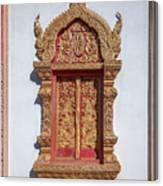Wat Buppharam Phra Wihan Window Dthcm1582 Canvas Print