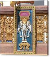 Wat Chedi Mae Krua Wihan Veranda Rail Decorations Dthcm1847 Canvas Print