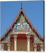 Wat Pho Samphan Phra Ubosot Gable Dthcb0065 Canvas Print
