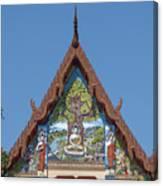 Wat Pho Samphan Phra Ubosot Gable Dthcb0066 Canvas Print