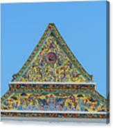 Wat Ratcha Orasaram Phra Wihan Gable Dthb0862 Canvas Print