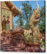 Wat Suan Prig Phra Wihan Makara And Naga Guardian Dthcm2395 Canvas Print