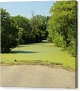 Watch For Water On Road Canvas Print