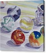 Watching Over My Marbles Canvas Print