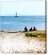 Watching The Boats Pass By Canvas Print