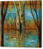 Water - Left Part Of  Triptych. Canvas Print