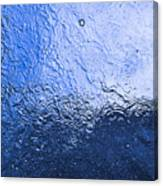 Water Abstraction - Blue Reflection Canvas Print
