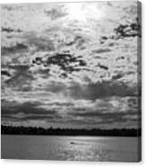 Water And Sky - Bw Canvas Print