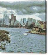 Water And Skyline Canvas Print