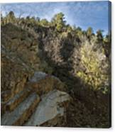 Water Canyon Sky View Canvas Print
