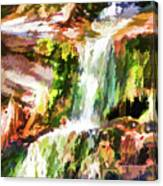 Water Cascading Canvas Print