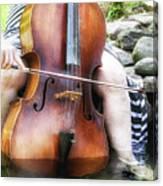 Water Cello  Canvas Print