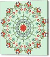 Water Color Garden Kaleidoscope Canvas Print