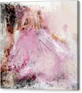 Water Colour Ballerina Canvas Print