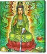Water Dragon Kuan Yin Canvas Print