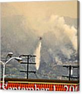Water Drop On The Station Fire Canvas Print