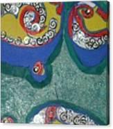 Water Drops Bright Canvas Print