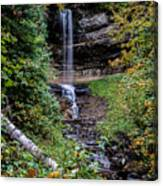 Water Falls In Autumn Canvas Print