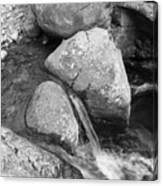Water Flowing Around Rock  Baxter State Park Maine Canvas Print
