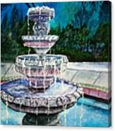 Water Fountain Acrylic Painting Art Print Canvas Print