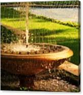 Water Fountain Garden Canvas Print