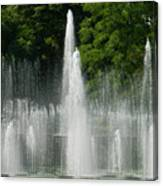 Water Fountain Show - Longwood Gardens In Pa Canvas Print