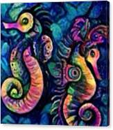 Water Horses B Canvas Print