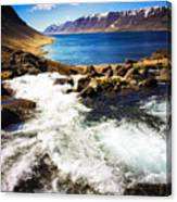 Water In Iceland - Beautiful West Fjords Canvas Print