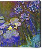 Water Lilies And Agapanthus 1917 Canvas Print