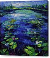 Water Lilies Magic Canvas Print