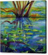 Water Lilies No 1. Canvas Print
