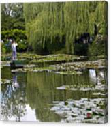 Water Lily Garden Of Monet In Giverny Canvas Print