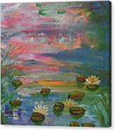 Water Lily Pond 2 Canvas Print