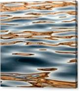 Water Movement- Liquid Gold Canvas Print