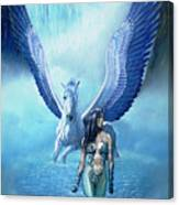 Water Pegasus Canvas Print