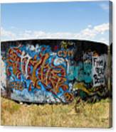 Water Tank Graffiti Canvas Print